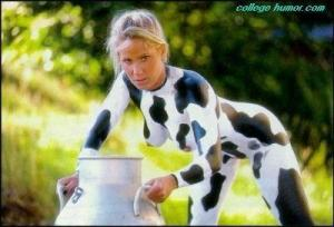 paint body cow girl